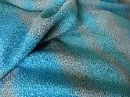 Handwoven Cotton Baby Blanket Lt Blue