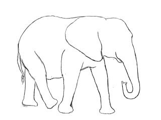 How To Draw An Elephant Elephant Drawing Elephant Sketch Easy