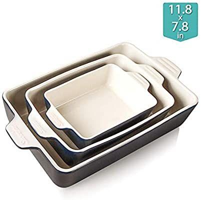 Amazon Com Sweejar Ceramic Bakeware Set Baking Dish Lasagna Pans Casserole Dish Navy Kitchen Dining In 2020 Ceramic Bakeware Set Ceramic Bakeware Bakeware Set