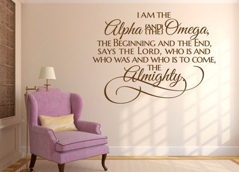 Christian Wall Decal. I Am the Alpha and the by WeAreVinylDesigns, $22.00