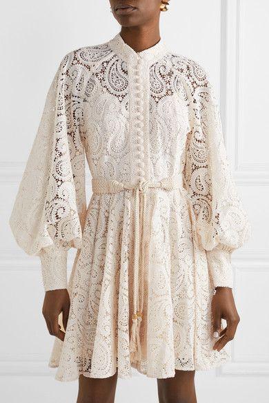 Amari Guipure Lace Mini Dress