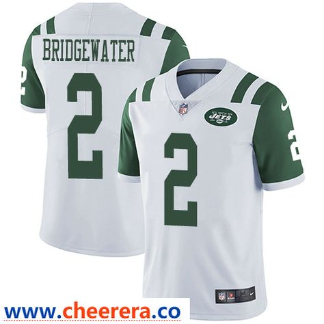 74e83143c Nike New York Jets  2 Teddy Bridgewater White Men s Stitched NFL Vapor  Untouchable Limited Jersey