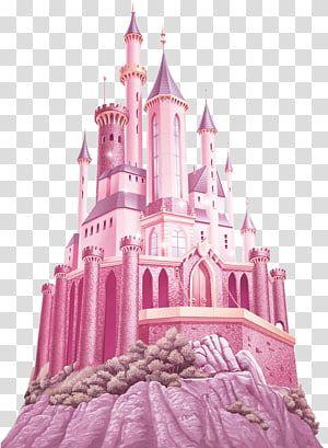 Disney Princess Magical Jewels Belle Princess Aurora Ariel Cinderella Castle Pink Castle Illustration Castle Illustration Pink Castle Princess Illustration