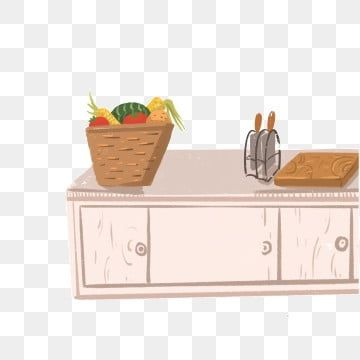 Cartoon Kitchen And Kitchen Tools Cutlery Vegetable Basket Cartoon Cabinet Png Transparent Clipart Image And Psd File For Free Download Kitchen Clipart Kitchen Tool Set Vegetable Basket