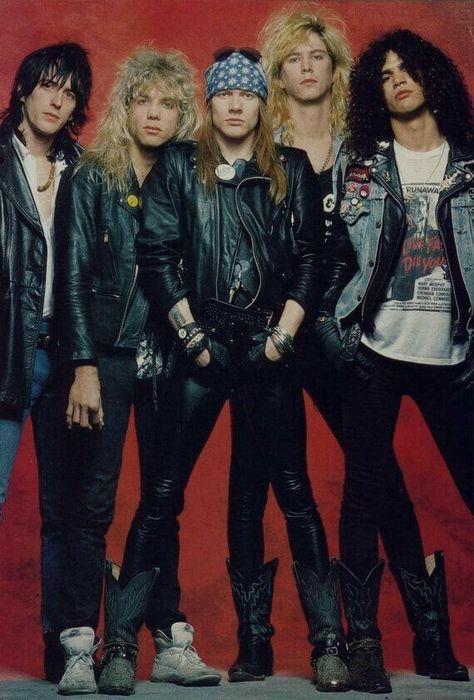 guns n roses axl rose duff mckagan slash izzy stradlin steven adler Guns N Roses, 80s Rock Bands, 80s Hair Bands, Axl Rose, Dave Matthews Band, Pop Rock, Rock N Roll, 80s Rock Fashion, Metallica