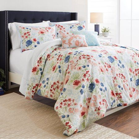 79770e7918d592028d6410fdf34f2f8c - Better Homes And Gardens Teal Flowers 5 Piece Set