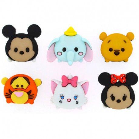 Tsum Tsum De Dress It Up Ofrece 6 Botones De Algunos Personajes Disney Como Mickey Y Minnie Winnie The Pooh Tigger Dumbo Y Marie Estos Botones Estan Insp 3 D