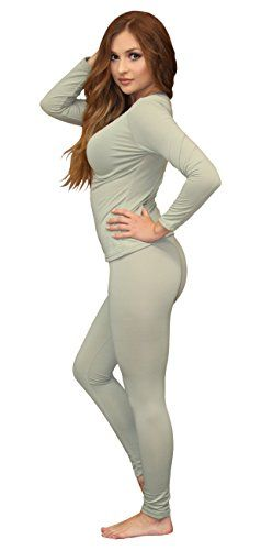 Roselux Womens Thermal Underwear Long Johns Set with Fleece Pajamas Set Lined Ultra Soft Layer Thermals Top and Bottom