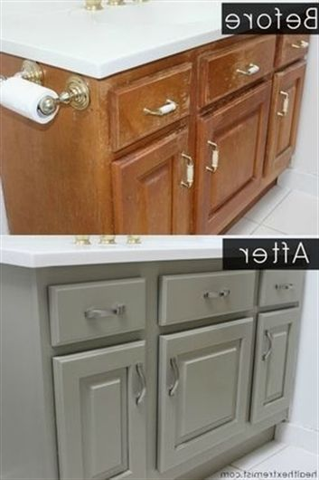 Learn How To Refinish A Bathroom Vanity Naturally With No