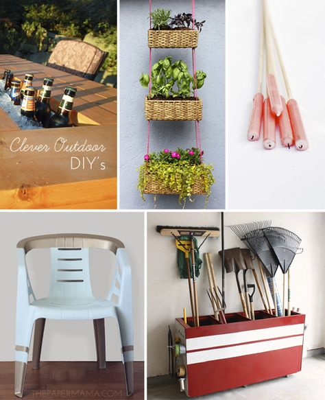 14 Clever Outdoor DIY's from The Paper Mama.