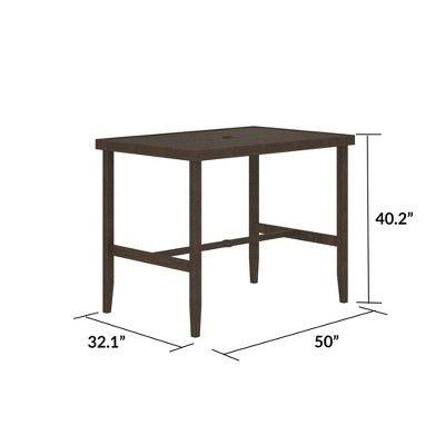 Steel Patio Bar Table Dark Brown Cosco In 2019 Patio