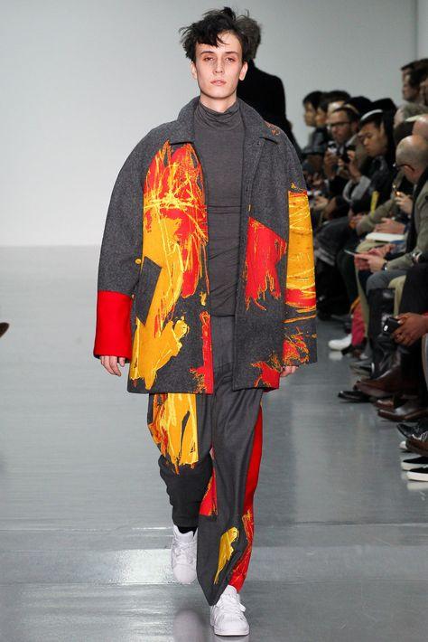Agi & Sam Fall 2015 Menswear Fashion Show pattern print - Magazine De Défilé De Mode
