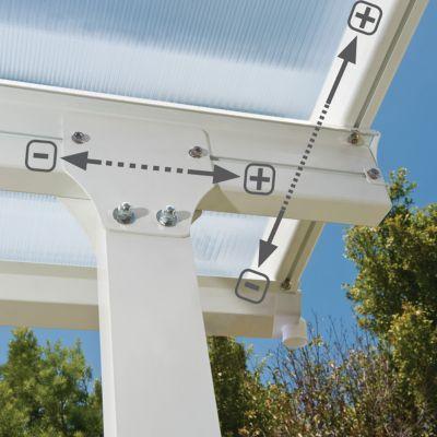 Toit Couv Terrasse 3 X 6 M Blanc En 2020 Terrasse Toit Patios Couverts