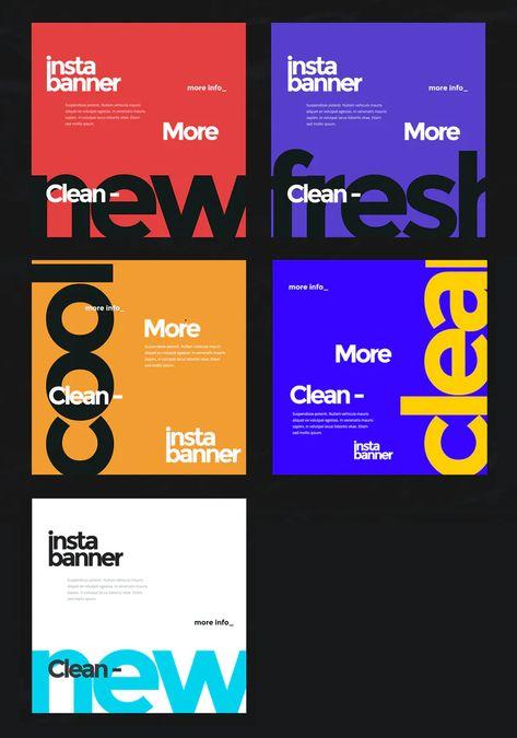 5 Social Media Banner Templates PSD