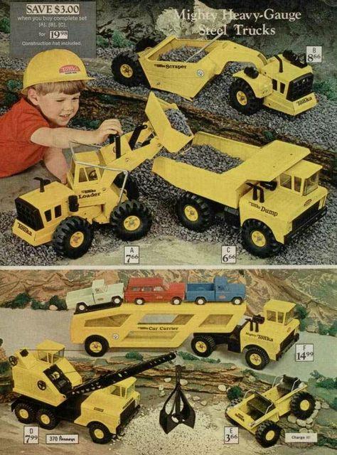 Tonka Toy Trucks >> Tonka Trucks 1970 I Had The Dump Truck And The Crane Those