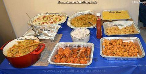 My Son S Birthday Party Menu Indian Party Menu Ideas Birthday Party Menu Indian Food Recipes Food