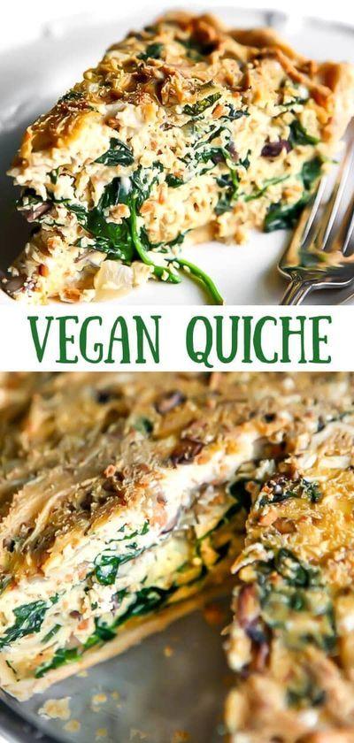 The Best Vegan Quiche In 2020 Vegan Quiche Vegan Recipes Healthy Easy Vegan Dinner