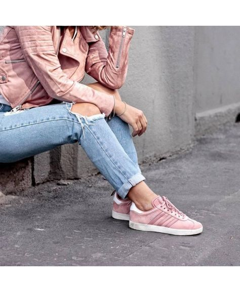 reasonable price new images of huge discount Adidas Gazelle W Raw Pink Silver Metallic Shoes | Silver ...