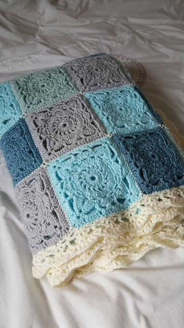 6d0618d515d4 Life in my houseful of boys  Makings - Crochet Willow Square Blanket ...