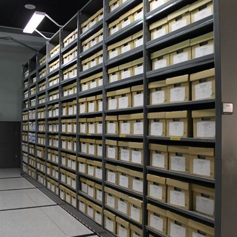 High Density Mobile Storage At Western Science Center Archive Storage Space Savers Mobile Shelving