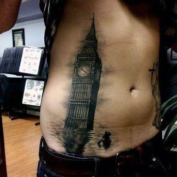 Disenos De Tatuajes En Abdomen Bajo Para Hombres Tatuaje Abdomen Tatuaje De Big Ben Tatuajes Chiquitos