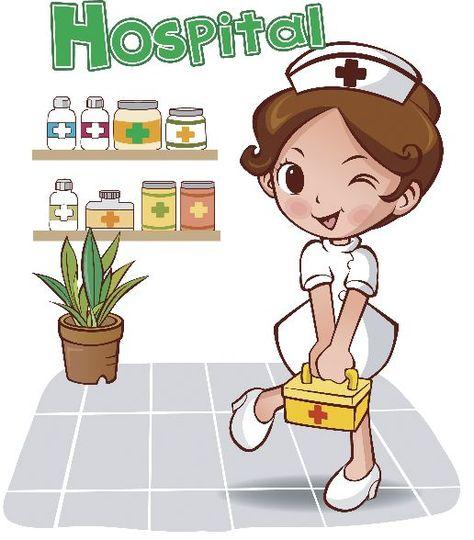 Enfermera Trabajando Animada Imagui Enfermero Dibujo