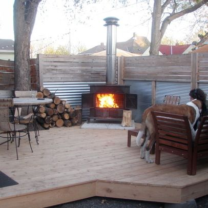 ideas for outdoor wood burning stoves