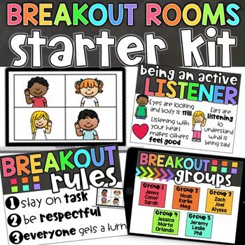 Breakout Room Rules Google Lessons Virtual School Breakouts