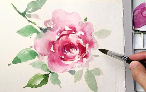 Watercolor Flower Painting Jayartpainting Youtube