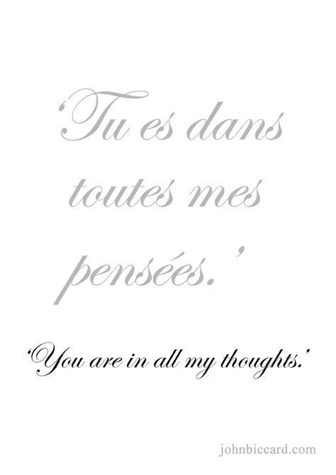 You Are In All My Thoughts French Words Quotes French
