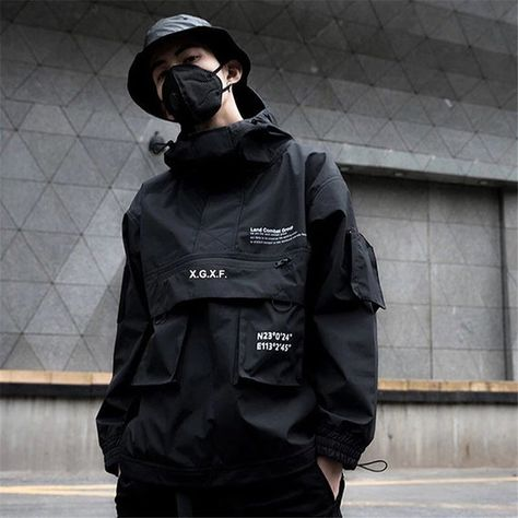 Combat Jacket, Cargo Jacket, Anorak Jacket, Parka, Man Jacket, Mode Swag, Tactical Jacket, Style Japonais, Mens Windbreaker