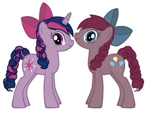 My Little Pony Coloring Pages Twilight Sparkle And Friends : Pinkamena and twilight sparkle as pinkis cupcake and brutalight