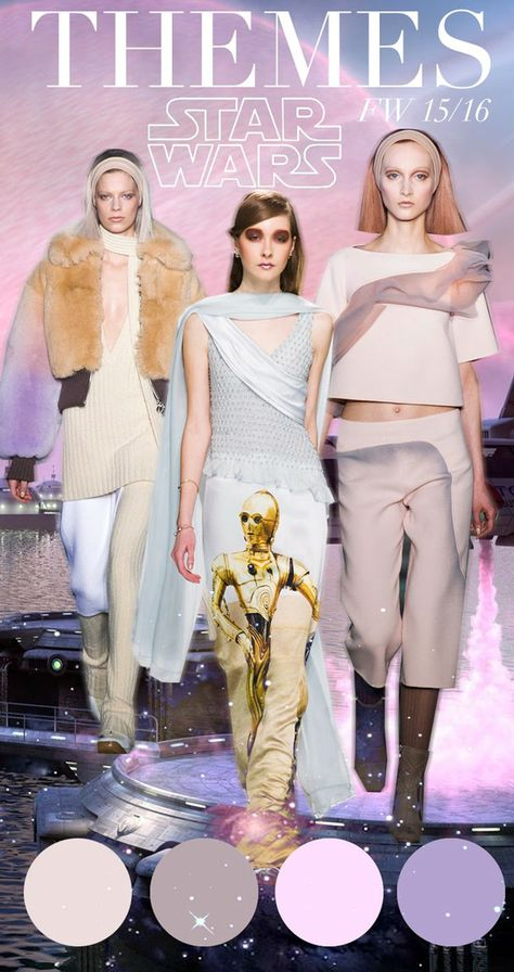 Star Wars: dominant futuristic fashion theme forecast and influence 2015 - 2016 Trend Council