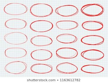 Highlight Circles Set Vector Collection Hand Drawn Red Ovals Designed To Highlight Text Or Important Objects Marker Doodle Sketch How To Draw Hands Vector