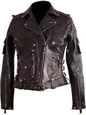 Women Premium Motorcycle Vintage Genuine Cowhide Pilot Leather Jacket In 2020 Pilot Leather Jacket High Quality Leather Jacket Leather