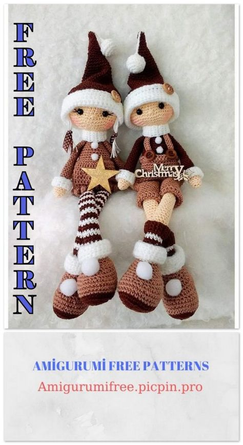 Amigurumi Christmas Elf Free Crochet Pattern - Amigurumi Free Patterns