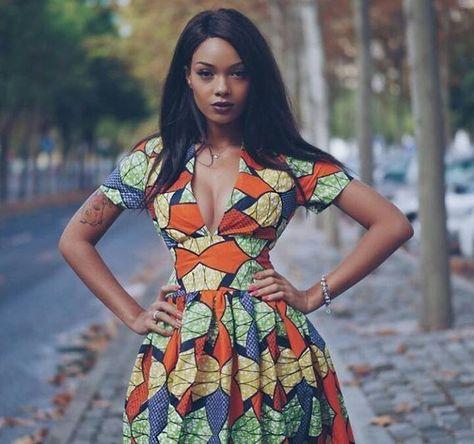 Ankara Dress The Casablanca African Prints Dress Cocktail Visitez votre boutique