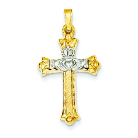 Sterling Silver 35mm Cross with 7.5 Charm Bracelet Jewels Obsession Cross Pendant