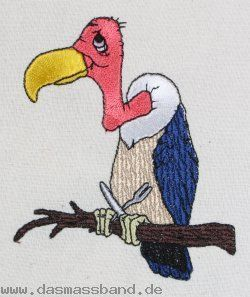 Free embroidery vulture #embroidery #vulture   embroidery
