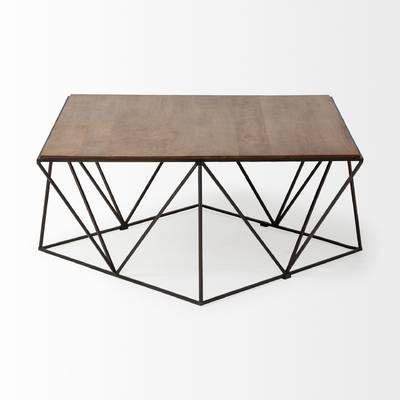 Ahart Frame Coffee Table Modern Industrial Coffee Table Coffee