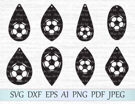 Soccer earrings cut files
