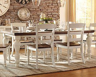 Marsilona Counter Height Dining Room Extension Table Ashley Furniture Homestore Farmhouse Dining Room Table