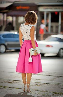 Faldas Redondas Moda Faldas Falda De Tablones Ropa De Moda Mujer