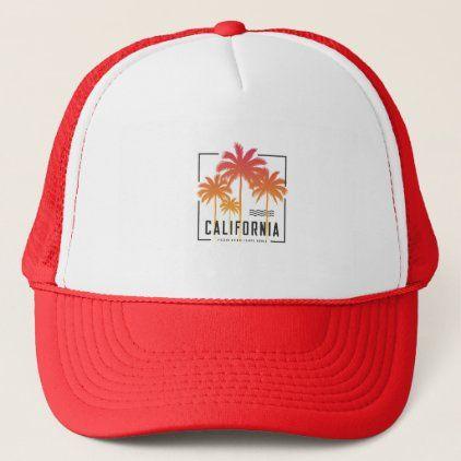 Santa Monica California Trucker Hat Zazzle Com California Trucker Hat Trucker Hat Santa Monica California