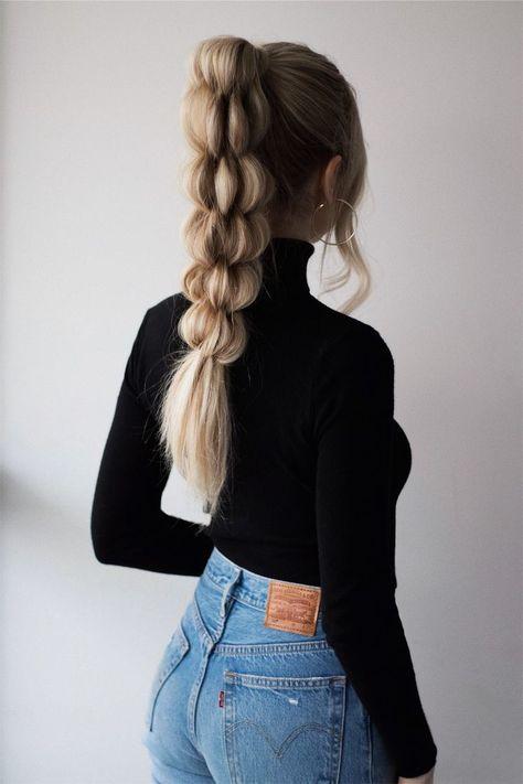 Tutoriel de cheveux de queue de cheval tressé unique