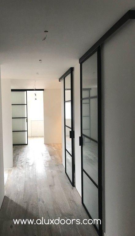 Alux Doors Metalen Schuifdeuren Met Mat Glas In 2019