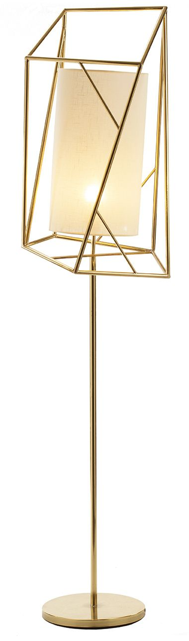 Floor lamp star iii design by claudia melo for mambos ettero collection brass