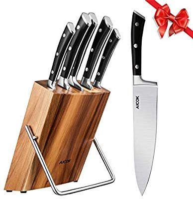 Amazon Com Kitchen Knife Set Professional 6 Piece Knife Set With