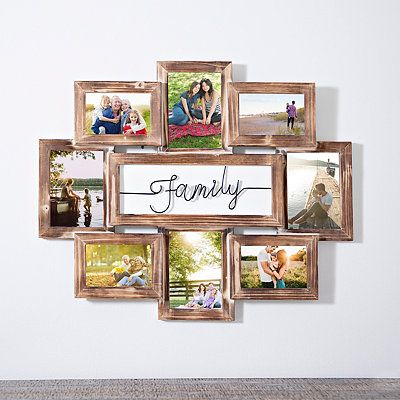 Wood Photo Frame Picture Family Collage Hanging Home Wall Decoration Durable