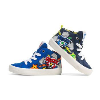 gene Habitar Surrey  Kiwi Boys' Sneakers from Geox Pop Art Collection Spring 2016
